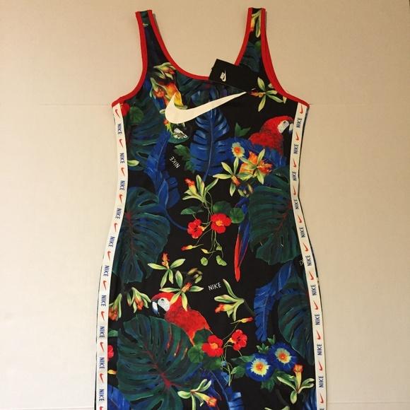 66264437d0d Nike Hyper Femme Women Floral Dress Tight Fit 010M